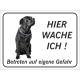 """Italian Mastiff """"Hier wache ich""""-Schild (schwarz)"""