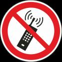 """Schilder """"Eingeschaltete Mobiltelefone verboten"""""""