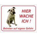 """Anatolischer Hirtenhund """"Hier wache ich""""-Schild (rot)"""