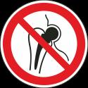 """Schilder """"Kein Zutritt für Personen mit Implantaten aus Metall"""""""