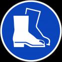"""Aufkleber """"Fußschutz benutzen"""""""