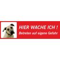 """Anatolischer Hirtenhund """"Hier wache ich""""-Schild (rot, niedriges Modell)"""
