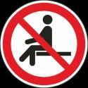 """Schilder """"Sitzen verboten"""""""