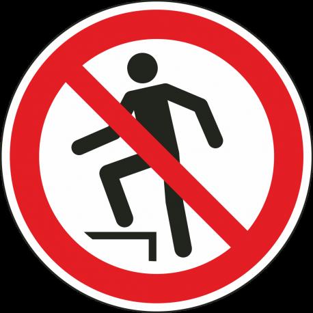 """Schilder """"Aufsteigen verboten"""""""