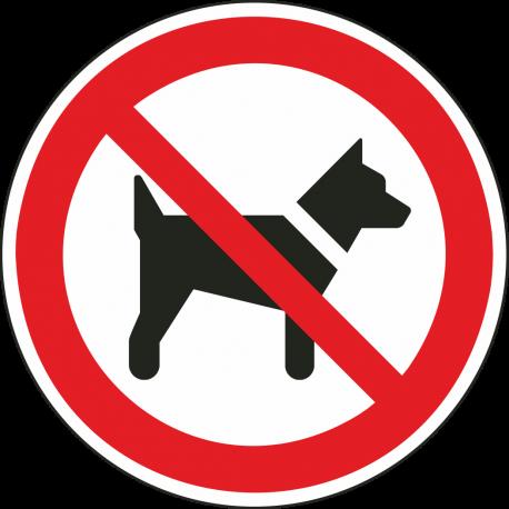 """Schilder """"Das Mitführen von Hunden ist verboten"""""""