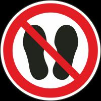 """Schilder """"Betreten der Fläche verboten"""""""