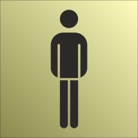 Schilder Herrentoilette Gold-Look