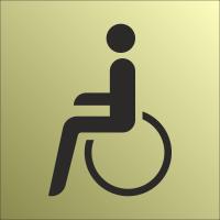 Schilder Behindertentoilette Gold-Look