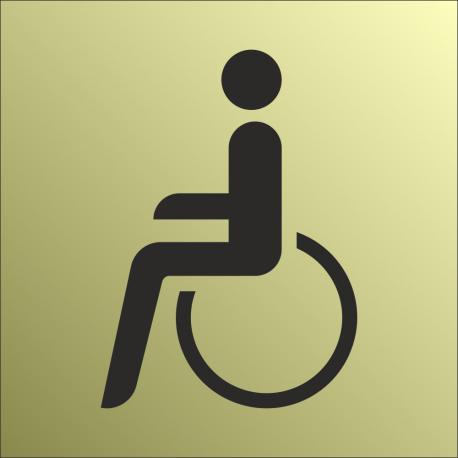Schilder Behindertentoilette