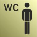Schilder Herren-WC Gold-Look