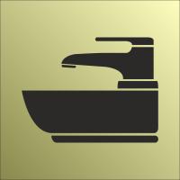 Schilder Waschbecken Gold-Look