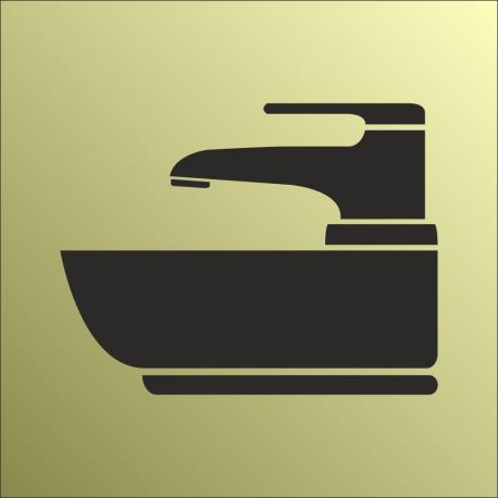 Schilder Waschbecken