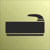 Schilder Baderaum Gold-Look