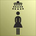 Schilder Damendusche Gold-Look