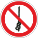 """Schilder """"Das Knoten von Seilen ist verboten"""""""