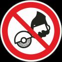 """Schilder """"Nicht zulässig für Freihand- und handgeführtes Schleifen"""""""