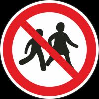 """Schilder """"Kinder verboten"""""""