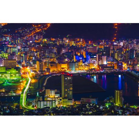 Foto auf Plexiglas - Stad bei Nacht