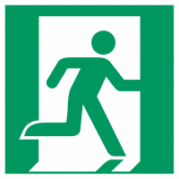 """Schilder """"Notausgang (rechts)"""""""
