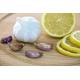 Foto auf Plexiglas - Knoblauch und Zitrone