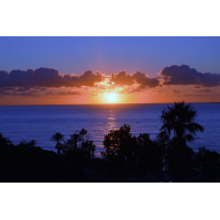 Abendhimmel  - Foto auf Plexiglas