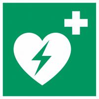 """Schilder """"AED (Automatisierter Externer Defibrillator)"""""""