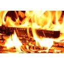 Foto auf Plexiglas - Kaminfeuer