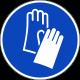 """Aufkleber """"Handschutz benutzen"""""""