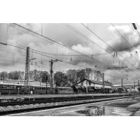 Zug  - Foto auf Plexiglas