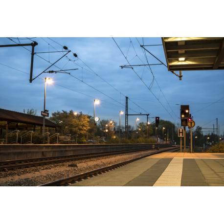 Foto auf Plexiglas - Bahnhof Moosburg