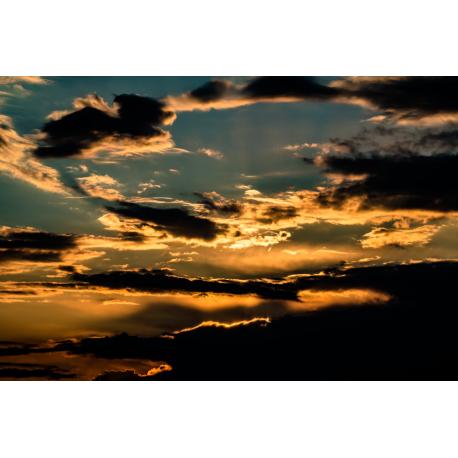 Foto auf Plexiglas - Sonnenuntergang mit Abendhimmel