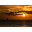 Foto auf Plexiglas - Sonnenuntergang entgegen segeln