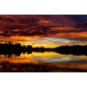Foto auf Plexiglas - Sonnenuntergang am See