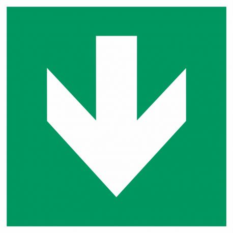 """Schilder """"Richtungsangabe abwärts"""""""
