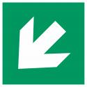 """Schilder """"Richtungsangabe links abwärts"""""""