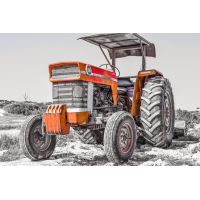 Foto auf Plexiglas - Traktor