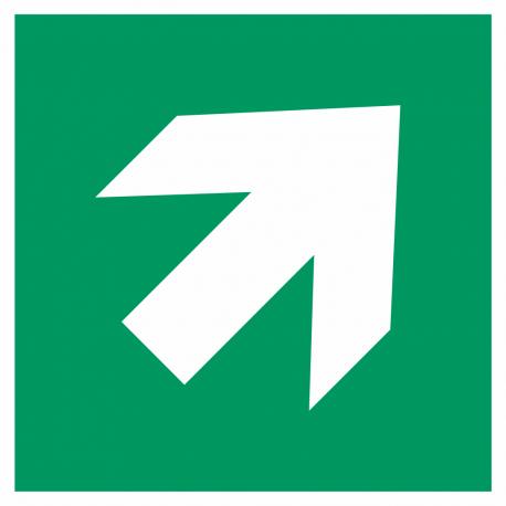 """Schilder """"Richtungsangabe rechts aufwärts"""