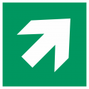 """Schilder """"Richtungsangabe rechts aufwärts"""""""