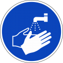 """Aufkleber """"Hände waschen"""""""