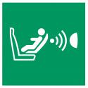 """Aufkleber """"Automatische Kindersitzerkennung und dessen Orientierung (CPOD)"""""""