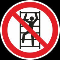 """Aufkleber """"Klettern verboten"""""""