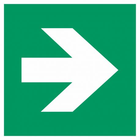 "Aufkleber ""Richtungsangabe rechts"""