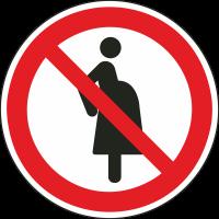"""Aufkleber """"Nicht für Schwangere"""""""