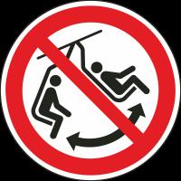 """Schilder """"Schaukeln im Sessel verboten"""""""