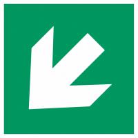 "Aufkleber ""Richtungsangabe links abwärts"""