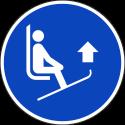 """Schilder """"Skispitzen anheben"""""""