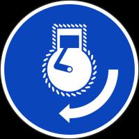 """Schilder """"Motor starten bei Aussetzvorgang"""""""
