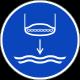 """Schilder """"Rettungsboot fieren beim Aussetzvorgang"""""""