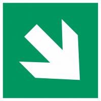 "Aufkleber ""Richtungsangabe rechts abwärts"""