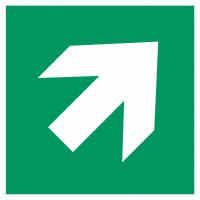 "Aufkleber ""Richtungsangabe rechts aufwärts"""